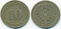 10 Pfennig 1874 C Kaiserreich kleiner Adler - Kupfer/Nickel sehr schön+... 1,80 EUR  zzgl. 1,20 EUR Versand