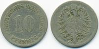 10 Pfennig 1875 F Kaiserreich kleiner Adler - Kupfer/Nickel schön  1,40 EUR  +  2,00 EUR shipping