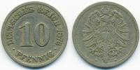 10 Pfennig 1876 B Kaiserreich kleiner Adler - Kupfer/Nickel schön/sehr ... 2,00 EUR  zzgl. 1,20 EUR Versand