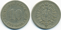 10 Pfennig 1889 D Kaiserreich kleiner Adler - Kupfer/Nickel schön/sehr ... 2,00 EUR  +  2,00 EUR shipping