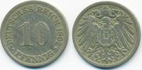 10 Pfennig 1892 F Kaiserreich großer Adler - Kupfer/Nickel fast sehr sc... 5,00 EUR  zzgl. 1,20 EUR Versand