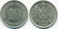 10 Pfennig 1893 A Kaiserreich großer Adler - Kupfer/Nickel fast prägefr... 45,00 EUR  zzgl. 3,80 EUR Versand