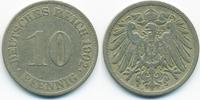 10 Pfennig 1902 J Kaiserreich großer Adler - Kupfer/Nickel fast sehr sc... 3,00 EUR  +  2,00 EUR shipping