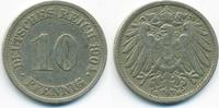 10 Pfennig 1904 G Kaiserreich großer Adler - Kupfer/Nickel sehr schön  5,50 EUR  +  2,00 EUR shipping