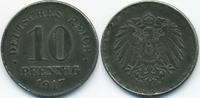 10 Pfennig 1917 D Ersatzmünze 1.WK Eisen fast vorzüglich  2,20 EUR  +  2,00 EUR shipping