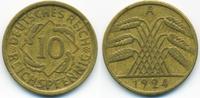 10 Reichspfennig 1924 A Weimarer Republik Kupfer/Aluminium sehr schön  0,80 EUR  zzgl. 1,20 EUR Versand