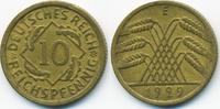 10 Reichspfennig 1929 E Weimarer Republik Kupfer/Aluminium sehr schön+  3,40 EUR  zzgl. 1,20 EUR Versand