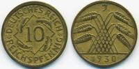 10 Reichspfennig 1930 J Weimarer Republik Kupfer/Aluminium sehr schön+  8,50 EUR  +  2,00 EUR shipping