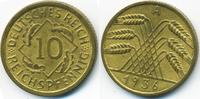 10 Reichspfennig 1936 A Weimarer Republik Kupfer/Aluminium vorzüglich  3,00 EUR  zzgl. 1,20 EUR Versand