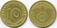 10 Reichspfennig 1938 D Drittes Reich Kupfer/Aluminium gutes sehr schön  1,50 EUR  +  2,00 EUR shipping