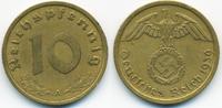 10 Reichspfennig 1939 A Drittes Reich Kupfer/Aluminium sehr schön+  1,20 EUR  +  2,00 EUR shipping