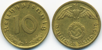 10 Reichspfennig 1939 F Drittes Reich Kupfer/Aluminium sehr schön+  2,00 EUR  zzgl. 1,20 EUR Versand