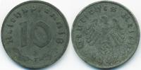 10 Reichspfennig 1942 F Drittes Reich Zink sehr schön+ - minimal fleckig  3,00 EUR  +  2,00 EUR shipping