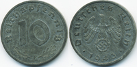 10 Reichspfennig 1943 F Drittes Reich Zink vorzüglich  5,50 EUR  +  2,00 EUR shipping