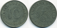 10 Reichspfennig 1944 E Drittes Reich Zink fast vorzüglich - winziger R... 4,50 EUR  +  2,00 EUR shipping