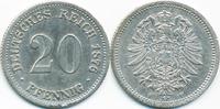 20 Pfennig 1876 F Kaiserreich kleiner Adler - Silber sehr schön - winzi... 7,50 EUR  +  2,00 EUR shipping