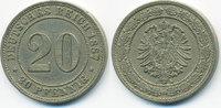 20 Pfennig 1887 A Kaiserreich kleiner Adler - Kupfer/Nickel gutes sehr ... 16,00 EUR  +  2,00 EUR shipping