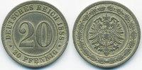 20 Pfennig 1888 F Kaiserreich kleiner Adler - Kupfer/Nickel fast sehr s... 18,00 EUR  +  2,00 EUR shipping