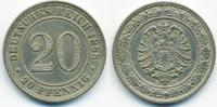 20 Pfennig 1888 G Kaiserreich kleiner Adler - Kupfer/Nickel fast vorzüg... 59,00 EUR  +  6,50 EUR shipping