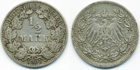 1/2 Mark 1905 A Kaiserreich Silber fast sehr schön  2,20 EUR  +  2,00 EUR shipping