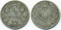 1/2 Mark 1906 J Kaiserreich Silber schön/sehr schön  4,50 EUR  +  2,00 EUR shipping