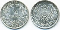 1/2 Mark 1907 D Kaiserreich Silber prägefrisch/stempelglanz  16,00 EUR  +  2,00 EUR shipping
