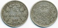 1/2 Mark 1909 D Kaiserreich Silber sehr schön  5,50 EUR  +  2,00 EUR shipping