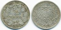 1/2 Mark 1911 A Kaiserreich Silber knapp sehr schön  2,20 EUR  +  2,00 EUR shipping