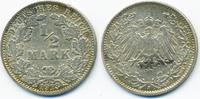 1/2 Mark 1913 J Kaiserreich Silber sehr schön+  6,00 EUR  +  2,00 EUR shipping