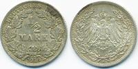 1/2 Mark 1914 A Kaiserreich Silber sehr schön+  2,40 EUR  +  2,00 EUR shipping