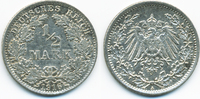 1/2 Mark 1916 A Kaiserreich Silber vorzüglich  3,50 EUR  +  2,00 EUR shipping