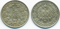 1/2 Mark 1917 E Kaiserreich Silber prägefrisch/stempelglanz  8,50 EUR  +  2,00 EUR shipping