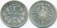 1 Mark 1883 F Kaiserreich kleiner Adler - Silber schön/sehr schön  45,00 EUR  zzgl. 3,80 EUR Versand