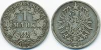 1 Mark 1883 J Kaiserreich kleiner Adler - Silber schön/sehr schön  69,00 EUR  zzgl. 3,80 EUR Versand