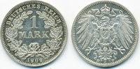 1 Mark 1902 D Kaiserreich großer Adler - Silber vorzüglich/prägefrisch  22,00 EUR  zzgl. 3,80 EUR Versand