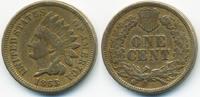 1 Cent 1863 USA Indian Head sehr schön+ - leicht gereinigt  20,00 EUR  zzgl. 3,80 EUR Versand