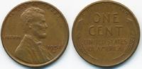 1 Cent 1952 D USA Lincoln Cent gutes sehr schön+  0,60 EUR  zzgl. 1,20 EUR Versand