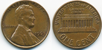 1 Cent 1963 USA Lincoln Cent Memorial vorzüglich  0,50 EUR  +  2,00 EUR shipping