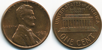 1 Cent 1967 USA Lincoln Cent Memorial fast prägefrisch  0,50 EUR  +  2,00 EUR shipping