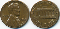 1 Cent 1968 USA Lincoln Cent Memorial gutes vorzüglich  0,60 EUR  +  2,00 EUR shipping