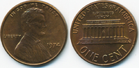 1 Cent 1974 USA Lincoln Cent Memorial prägefrisch+  0,60 EUR  zzgl. 1,20 EUR Versand