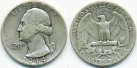 1/4 Dollar 1944 USA Washington Quarter schön/sehr schön  4,50 EUR  zzgl. 1,20 EUR Versand