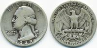 1/4 Dollar 1945 USA Washington Quarter schön  4,50 EUR  zzgl. 1,20 EUR Versand