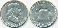 1/2 Dollar 1963 D USA Franklin Half vorzüglich  14,00 EUR  zzgl. 1,20 EUR Versand