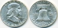 1/2 Dollar 1963 D USA Franklin Half vorzüglich+  15,00 EUR  zzgl. 1,20 EUR Versand