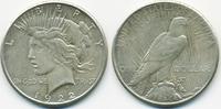 1 Dollar 1922 S USA Peace Dollar sehr schön  24,00 EUR  zzgl. 3,80 EUR Versand