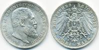 3 Mark 1913 F Württemberg Wilhelm 1891-1918 prägefrisch/stempelglanz  65,00 EUR  zzgl. 3,80 EUR Versand