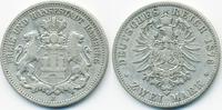 2 Mark 1876 J Hamburg Freie und Hansestadt fast sehr schön  22,00 EUR  zzgl. 3,80 EUR Versand