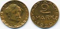 2 Mark 1920 Rheinprovinz Aachen - Messing 1920 (Funck 1.17b) vorzüglich+  7,50 EUR  zzgl. 1,20 EUR Versand