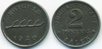 2 Pfennig 1920 Württemberg Aalen - Eisen 1920 (Funck 2.10) fast prägefr... 9,50 EUR  zzgl. 1,20 EUR Versand